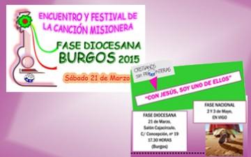 BURGOS – ENCUENTRO Y FESTIVAL DIOCESANO DE LA CANCIÓN MISIONERA 2015