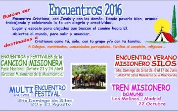 FECHAS DE LOS ENCUENTROS 2016 DE CSF