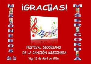 Cartel Festival Canción Misionera 2016