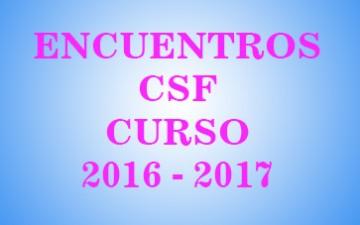 FECHAS DE PRÓXIMOS ENCUENTROS CURSO 2016 – 17
