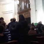 En la Eucaristía con los PP. Benedictinos.