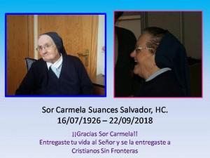 Sor Carmela Suances Salvador,HC