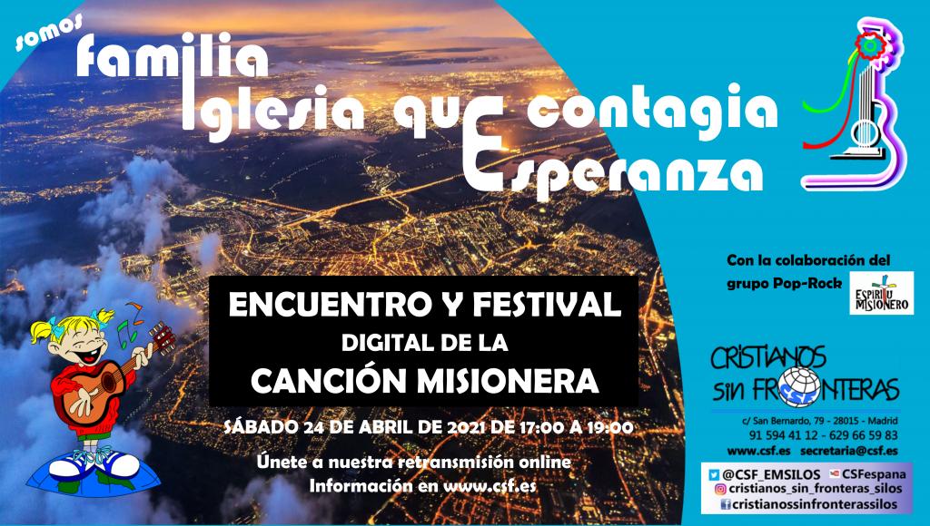 Cartel Encuentro y Festival de la Canción Misionera
